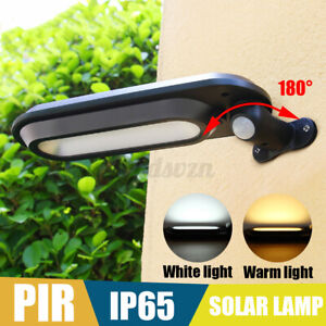 LED Solar PIR Motion Sensor Light Security Lamp Outdoor Garden Wall Waterproof