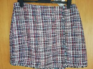**BRAND NEW WITH TAGS WOVEN MULTI COLOURED SKIRT SIZE 14**