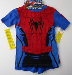 Marvel Ultimate Spider-Man 4 Piece Cotton Sleepwear Set Size 6 NWT Retail $40