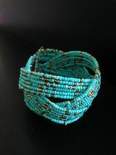 Bracelet Turquoise Stretch Boho Tribal Ethnic Bohemian Arabic Folk Gypsy B1037