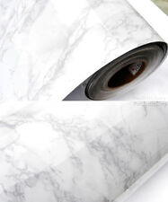 White Black Marble Contact Paper Glossy Gray Granite Wallpaper Peel Stick Film