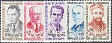 France 1960 Heroes of the Resistance Set of 5 MUH