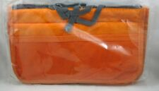 New Travelus Dual Bag Toiletry Cosmetic Make Up Bag Makeup Organizer-Orange