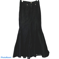 Bisou Bisou Michele Bohbot Dark Denim Mermaid Trumpet Maxi Skirt Size 8 Modest