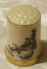 Collectible Danbury Mint Porcelain Thimble - Norman Rockwell - Defeated Suitor