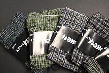 6 MEN'S CLASSIC BOXER FULL CUT SHORTS Briefs UNDERWEAR 100% COTTON SMALL  28-30