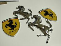 Loghi Badge Ferrari Cavallino Rampante in metallo 4 pezzi