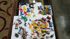 1960s Cowboys & Indians Toy Figures Lot Marx Hong Kong