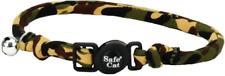 "Coastal Pet Breakaway Cat Round Collar Camouflage 3/8"" x 8-12"" neck w/ bell safe"