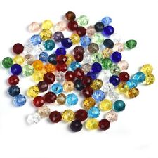 100pcs Mixed Color 4x6mm Crystal Glass Beads Jewelry Making Crafts Accessories