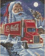 Counted Cross Stitch COCA-COLA TRUCK WITH SANTA - COMPLETE KIT  #4-311