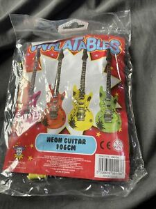 106cm neon inflatable guitar
