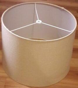 Light-Beige Fabric Lamp Shade Drum w/ Slight Taper 10H x 13Dia. Top x 15Dia. Bot