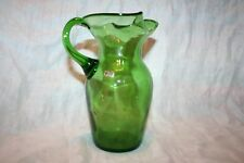 Made in Italy Green Glass Pitcher