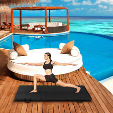 Non-Slip Tri-fold Gymnastics Yoga Mat with Hand Buckle Fitness Exercise Black