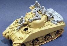 1:35 Sherman Tank crew 3 Figures and storage Resin Model Kit