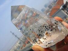 303g Natural Clear Quartz Crystal Wand Phantom Point Specimens W1441