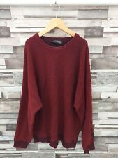 MENS DESIGNER BURGUNDY RED CARLO COLUCCI RETRO PULLOVER SPORTS JUMPER VGC L/XL