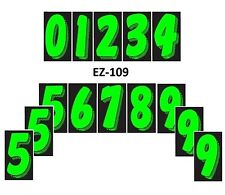 "Car Dealer Window Stickers 7 1/2"" Numbers Chartreuse Black 14 Packs Free Ship"
