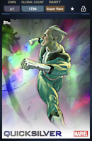 Topps Marvel Collect! Quicksilver X-Icons Rainbow Motion SUPER RARE X-Icon