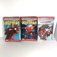 Lot Of 3 Ironman Graphic Novels - Adventures Of Ironman Iron Man Spiderman