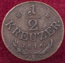 Austria Half (1/2) Kreuzer 1816 A (G2708)