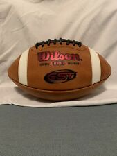 Wilson Gst 1003 Ncaa Leather Game Football Wtf1003 Pink Foil Logo Made In Usa