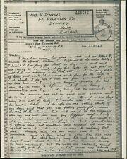 Mrs V Jenkins. 60 Kynaston Road, Bromley. Alf Jenkins. 1943. 'B Troop'  RJ.673