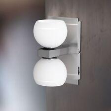 Wofi Applique Lynn à 2 LAMPES NICKEL boule en verre blanc INTERRUPTEUR 66 Watt