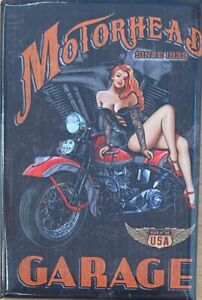 Motorhead Garage Fridge Magnet
