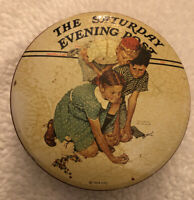 Vintage Marbles Champion By Norman Rockwell The Saturday Evening Post Marble Tin