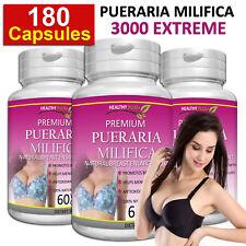 180 Capsules PUERARIA MIRIFICA Estrogen Hormone Enlarge Breast Firmer ORGANIC