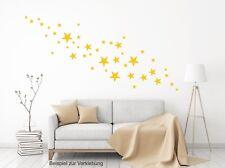 Wandtattoo 44 glanz gelbe Sterne  Aufkleber Dekoration Himmel Star div. Größen