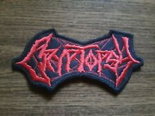 CRYPTOPSY,SEW ON RED EMBROIDERED PATCH