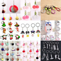 Fashion Plush Ball PomPom Keyring Keychain Pendant Bag Phone Car Key Chain Ring