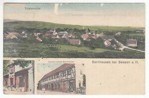 Ansichtskarte Niedersachsen Bornhausen bei Seesen a.h. Bahnhof Consum Verein