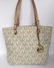 Michael Kors Tote Handbags PVC Vanilla Signature Size Medium Gold Hardware