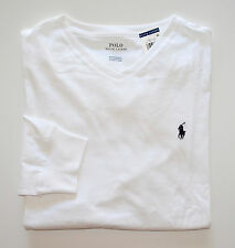 NWT Men's Ralph Lauren Long-Sleeve V-Neck Tee, T-shirt, White, L, Large