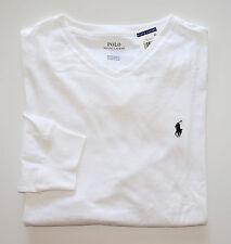 NWT Men's Ralph Lauren Long-Sleeve V-Neck Tee, T-shirt, White, XL, X-Large