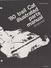 1980 Arctic Cat Snowmobile Trail Cat 3000,4000 P/N 0185-152 Parts Manual (062)