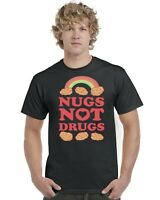 Nugs Not Drugs Mens Adults T-Shirt Funny Tee Top Chicken Nuggets Sizes S-XXL