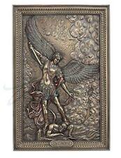 "9"" Saint Michael Archangel Tramples Demon Wall Plaque San Miguel Arcangel"