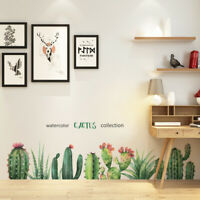 Removable Banana Leaves Cactus Shape Wall Sticker Mural Decal Home Decor