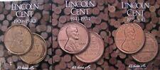 H.E. Harris Lincoln Cent 09-40+41-74+75-13 Coin Folders, 3 Penny Album Books