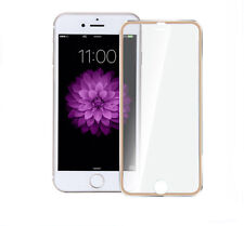 For iPhone 6 Plus Curved 3D Tempered Glass Screen Protector Metal Edge Gold