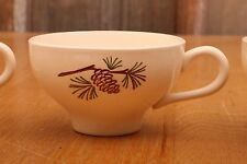 Four Vintage Pinecone Mugs Coffee Tea Collectible