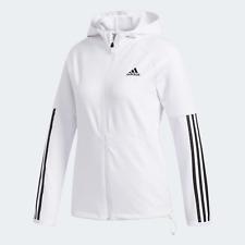Adidas Entrenamiento Mujer 3-Stripes Sudadera con Capucha Para Exterior Blanco