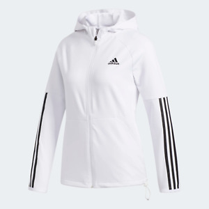 adidas Training Womens  3-Stripes Hoodie for outdoor workouts white