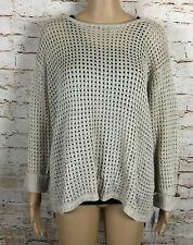 NWT Lulu-B Sweater Crochet Basket Weave Pullover Tan Women's Size XL