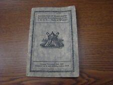 IOOF CONSTITUTIONS OF GRAND AND SUBORDINATE ENCAMPMENTS MISSOURI